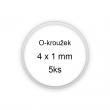 Sada O-kroužků / těsnění 4x1 mm (5ks)