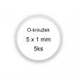 Sada O-kroužků / těsnění 5x1 mm (5ks)