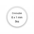 Sada O-kroužků / těsnění 6x1 mm (5ks)