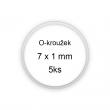 Sada O-kroužků / těsnění 7x1 mm (5ks)