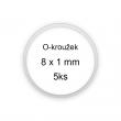 Sada O-kroužků / těsnění 8x1 mm (5ks)