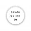 Sada O-kroužků / těsnění 9x1 mm (5ks)