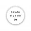 Sada O-kroužků / těsnění 11x1 mm (5ks)