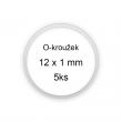 Sada O-kroužků / těsnění 12x1 mm (5ks)