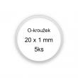 Sada O-kroužků / těsnění 20x1 mm (5ks)