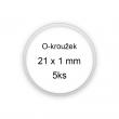 Sada O-kroužků / těsnění 21x1 mm (5ks)