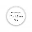 Sada O-kroužků / těsnění 17x1,5 mm (5ks)