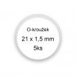 Sada O-kroužků / těsnění 21x1,5 mm (5ks)