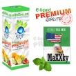 E-liquid: PREMIUM - 10ml / 0mg (ZERO): MaXXky MENTOLOVÉ (GREEN U