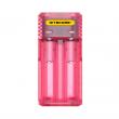 Multifunkční nabíječka baterií - Nitecore Intellicharger Q2 (Pinky Peach)