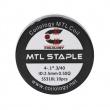 Předmotané spirálky Coilology MTL Series - MTL Staple SS316L (0,5ohm) (10ks)