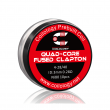 Předmotané spirálky Coilology Quad-Core Fused Clapton Ni80 (0,28ohm) (10ks)