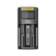 Multifunkční USB nabíječka baterií - Nitecore UMS2 LCD (2 sloty)