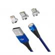 Dobíjecí kabel 3v1 Kumiho K-1 (Modrý)