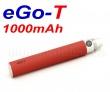 [!Doprodej] - Baterie Joyetech eGo-T - MEGA XL (1000mAh) - MANUAL (Červená)
