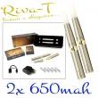 [!Doprodej] - Elektronická cigareta: Riva-T (2x 650mAh) (Chromov