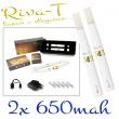 [!Doprodej] - Elektronická cigareta: Riva-T (2x 650mAh) (Bílá)