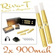 [!Doprodej] - Elektronická cigareta: Riva-T (2x 900mAh) (Zlatá)