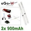 eGo-W 900mAh bílá, 2ks