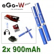 eGo-W 900mAh modrá, 2ks