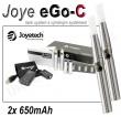 Elektronická cigareta JoyeTech eGo C, 2ks v balení, stříbrná