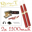 [!Doprodej] - Elektronická cigareta: Riva-T (2x 1100mAh) (Vínová