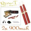 [!Doprodej] - Elektronická cigareta: Riva-T (2x 900mAh) (Vínová)
