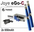 Elektronická cigareta JoyeTech eGo C, 2ks v balení, modrá