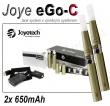 Elektronická cigareta JoyeTech eGo C, 2ks v balení, titanová