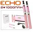 Elektronická cigareta: ECHO - TRAVEL KIT (2x 1000mAh) (Růžová)