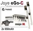 Elektronická cigareta: Joyetech eGo-C - MEGA XL (2x 650mAh) (Bíl