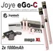Elektronická cigareta: Joyetech eGo-C - MEGA XL (2x 1000mAh) (Rů