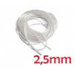 Křemíkový knot (Silica Rope / Wick) 2,5mm (1m)