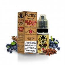 E-liquid Perino London 10ml / 3mg: Oliver Twist (Borůvky s anýzem a lékořicí)
