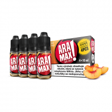 E-liquid Aramax 4x10ml / 12mg: Broskev (Max Peach)