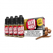 E-liquid Aramax 4x10ml / 12mg: Cigar Tobacco (Tabák)