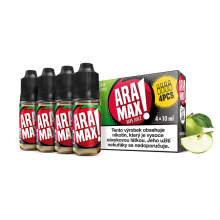 E-liquid Aramax 4x10ml / 12mg: Jablko (Max Apple)