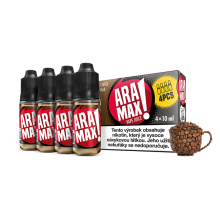 E-liquid Aramax 4x10ml / 12mg: Káva (Coffee Max)