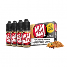 E-liquid Aramax 4x10ml / 12mg: Sahara Tobacco (Tabák)