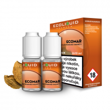 E-liquid Ecoliquid Double Pack 2x10ml / 0mg: ECOMAR