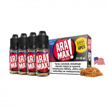 E-liquid Aramax 4x10ml / 18mg: USA Tobacco (Tabák)