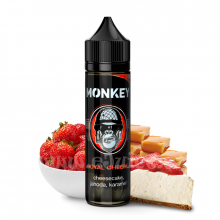 Příchuť Monkey S&V: Royal Cheese (Jahodový cheesecake s karamelem) 12ml