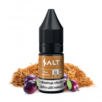 E-liquid Salt Brew Co 10ml / 10mg: Plum Tobacco (Tabák se švestkou a vanilkou)