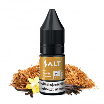 E-liquid Salt Brew Co 10ml / 20mg: Vanilla Tobacco (Tabák s vanilkou a karamelem)