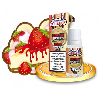 E-liquid American Stars 10ml / 6mg: Strawberry Cheesecake