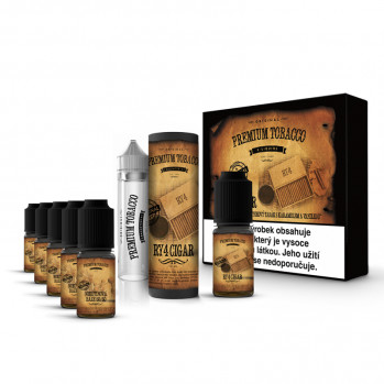 E-liquid DIY sada Premium Tobacco 6x10ml / 6mg: RY4 Cigar