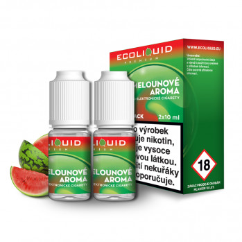 E-liquid Ecoliquid Double Pack 2x10ml / 18mg: Meloun