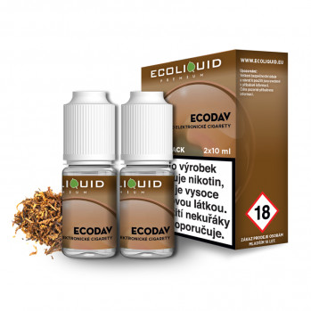 E-liquid Ecoliquid Double Pack 2x10ml / 18mg: ECODAV